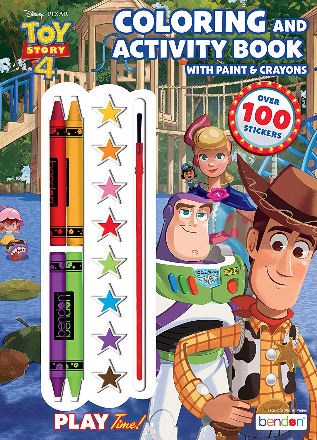 Amazon Com Disney Toy Story 4 Official Coloring Book With Paints And Crayons Multicolor Toys Games