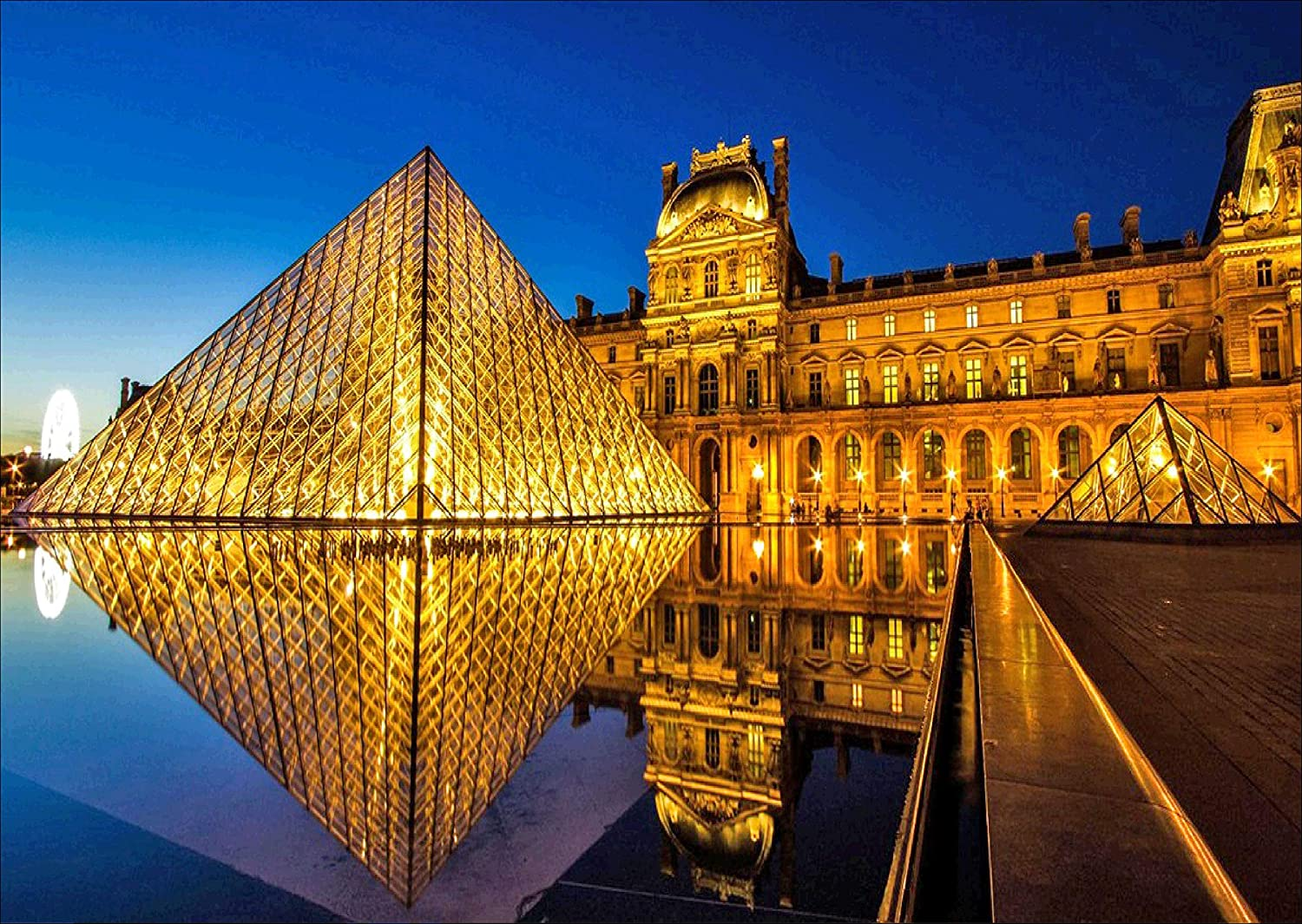 BELL CAT Paris Diamond Painting- Louvre Pyramid Diamond Painting Kits, Full Coverage, Round Rhinestone, DIY Art Supplies- Fun Gifts for Friends&Family, Adults&Children, Craftwork for Décor(q074)