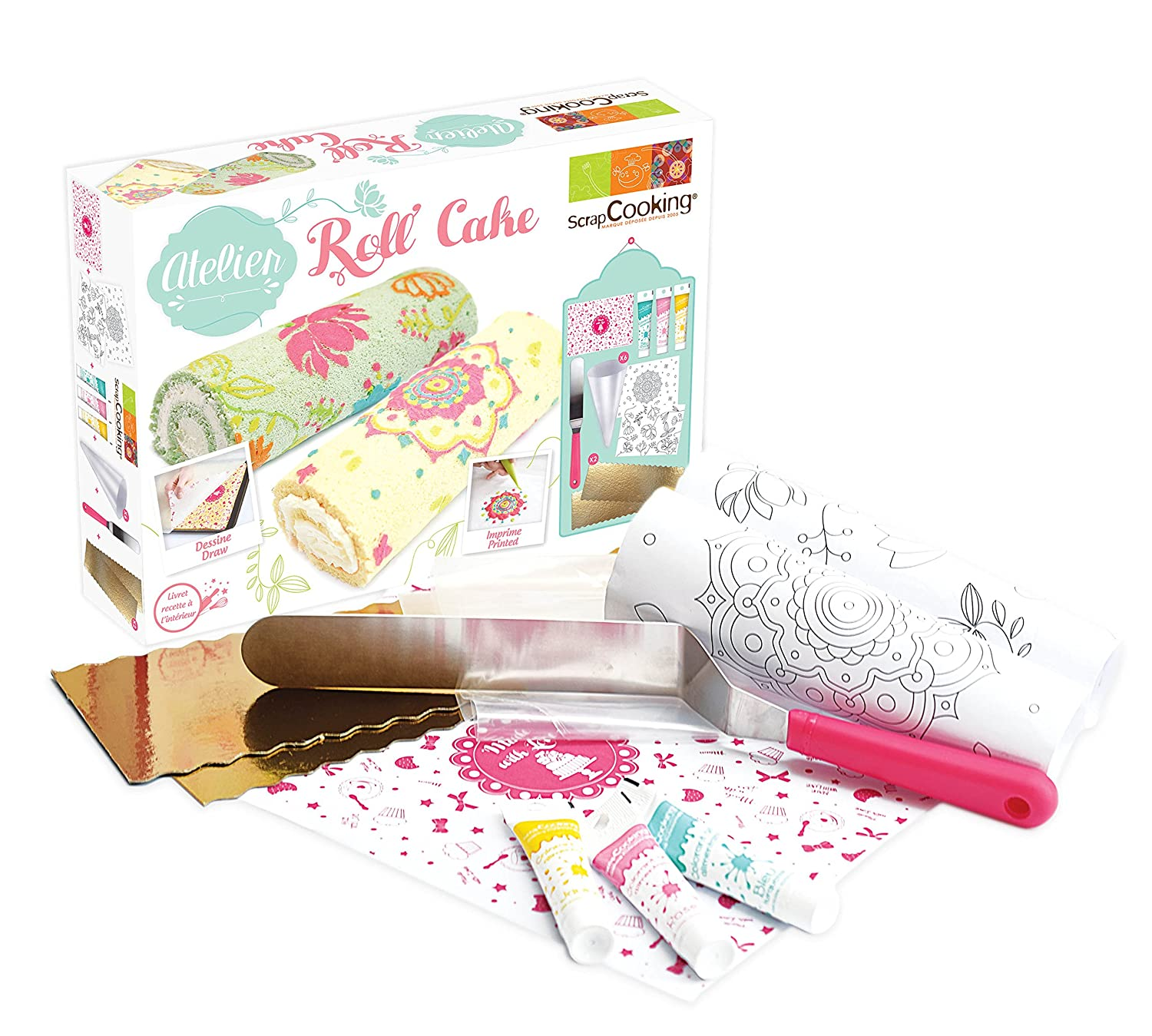 Scrapcooking 3959 Roll N Box Cake Shop Design 20 X 29 5 X 6 Cm