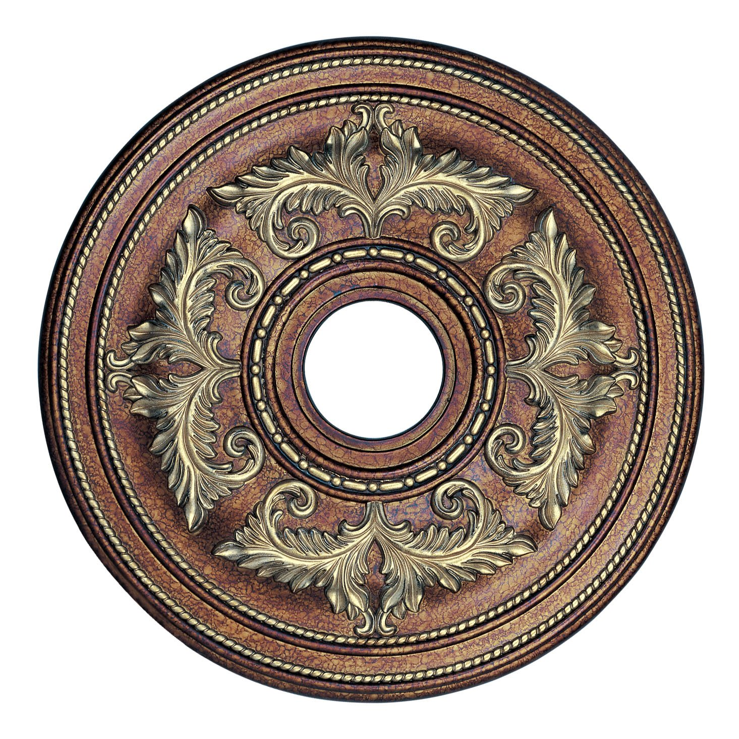 Livex Lighting 8200-64 Ceiling Medallion in Palacial Bronze with Gilded Accents by Livex Lighting