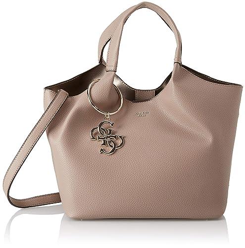 d69a9bca336e Guess Flora, Women s Shoulder Bag, Brown (Taupe Tau), 47x25x17.5 cm (W x H  L)  Handbags  Amazon.com