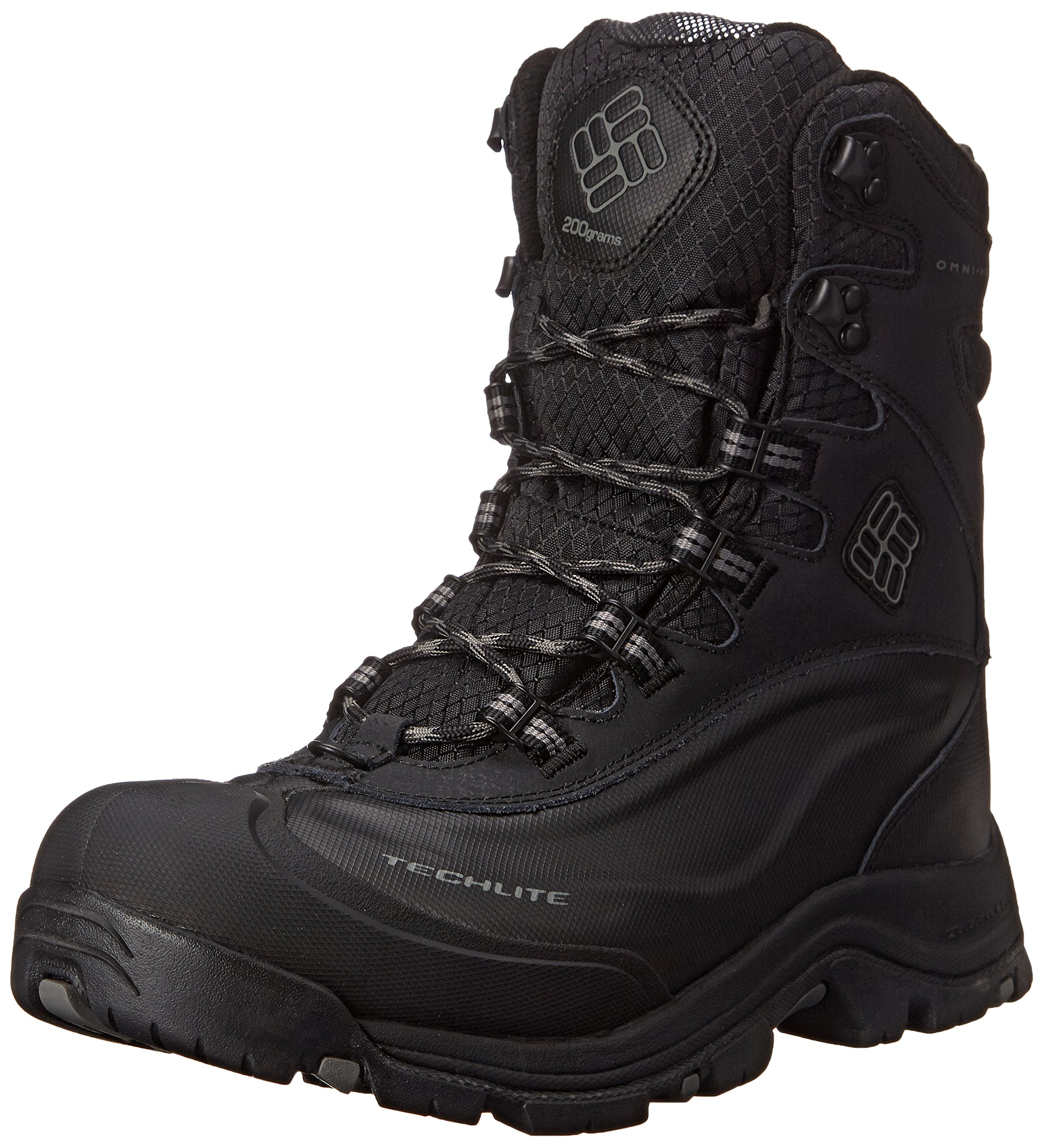 Columbia Men's Bugaboot Plus III Oh Wide Cold Weather Boot, Black/Charcoal, 9.5 EE US