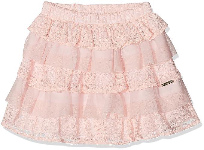 Conguitos Falda Volantes Guipur, Niñas, Rosa (Pink), 116 (Tamaño del