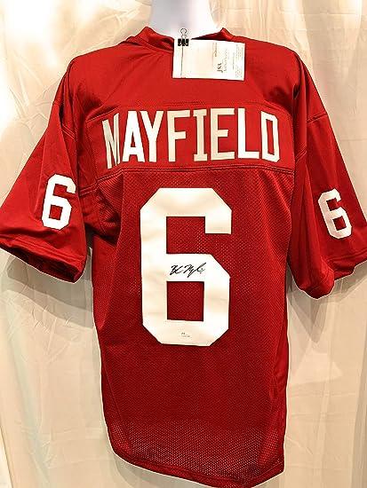 official photos 7c0ce 8da83 Baker Mayfield Oklahoma Sooners Signed Autograph Custom ...