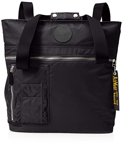 13c3219a2c86 Dr. Martens Unisex-Adult Flight Tote Canvas and Beach Tote Bag Black (Black