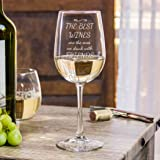 Funny Wine Glass - The Best Wines are the ones we drink with Friends (18 oz Libbey Wine Glass)