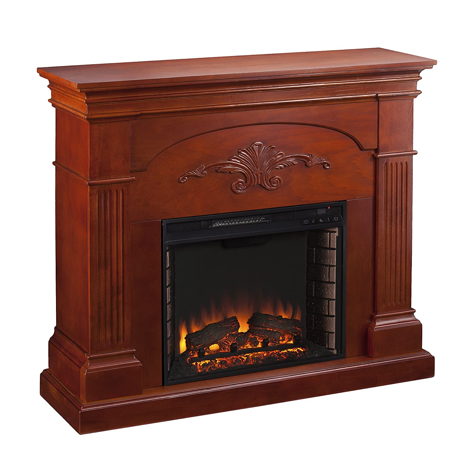 amazon com sei sicilian harvest electric fireplace mahogany