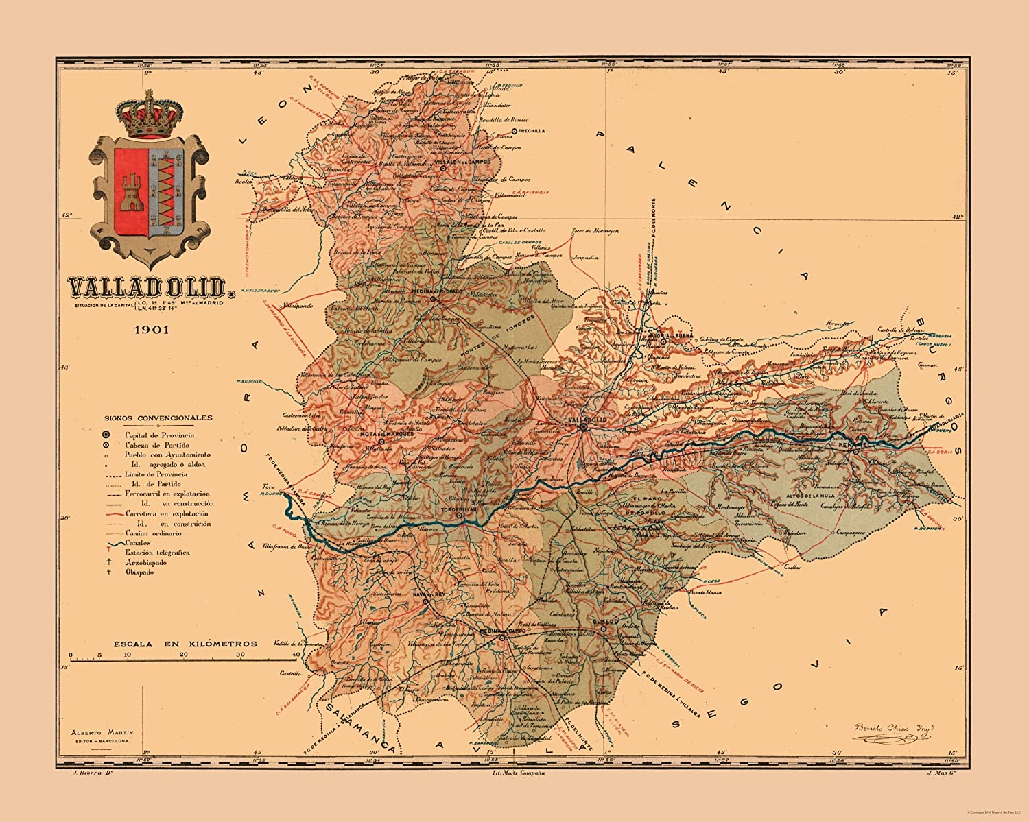 Map Of Spain Valladolid.Amazon Com Maps Of The Past International Map Spain Valladolid