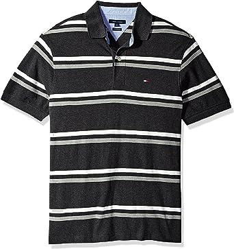 Tommy Hilfiger Boys Short Sleeve Wide Stripe Polo