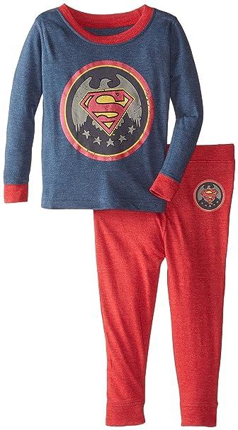 fa6a6c3ef Amazon.com  DC Comics Toddler  Superman Superhero Logo  Pajama Set ...