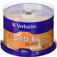 Verbatim 97176- DVD-R vírgenes (4.7 GB, DVD-R), paquete con 50 unidades