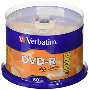 Verbatim(R) Life Series DVD-R Disc Spindle, Pack Of 50