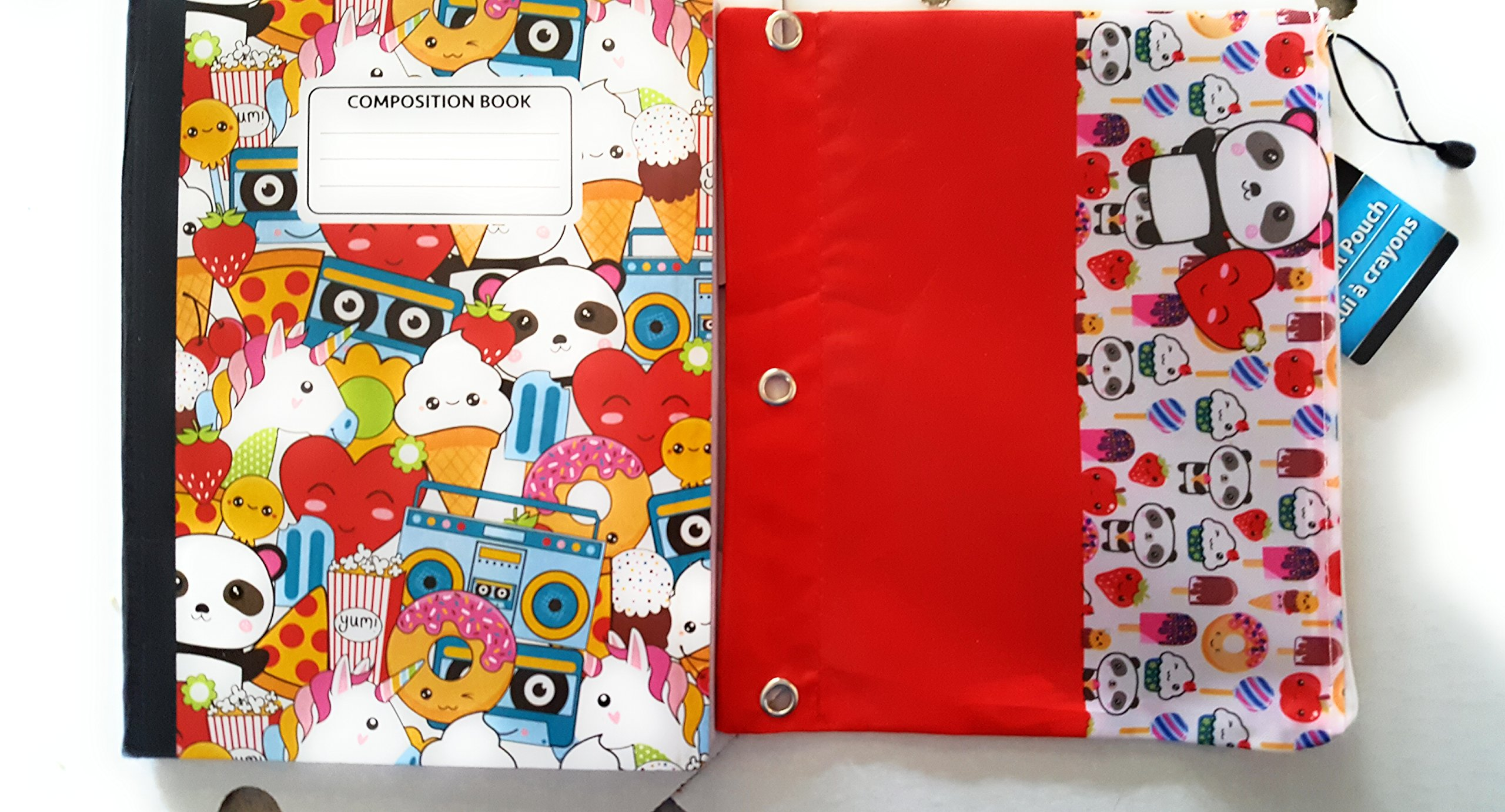 Jot Wide Ruled 100 pg Composition Notebooks Primary Colors Set of 4.