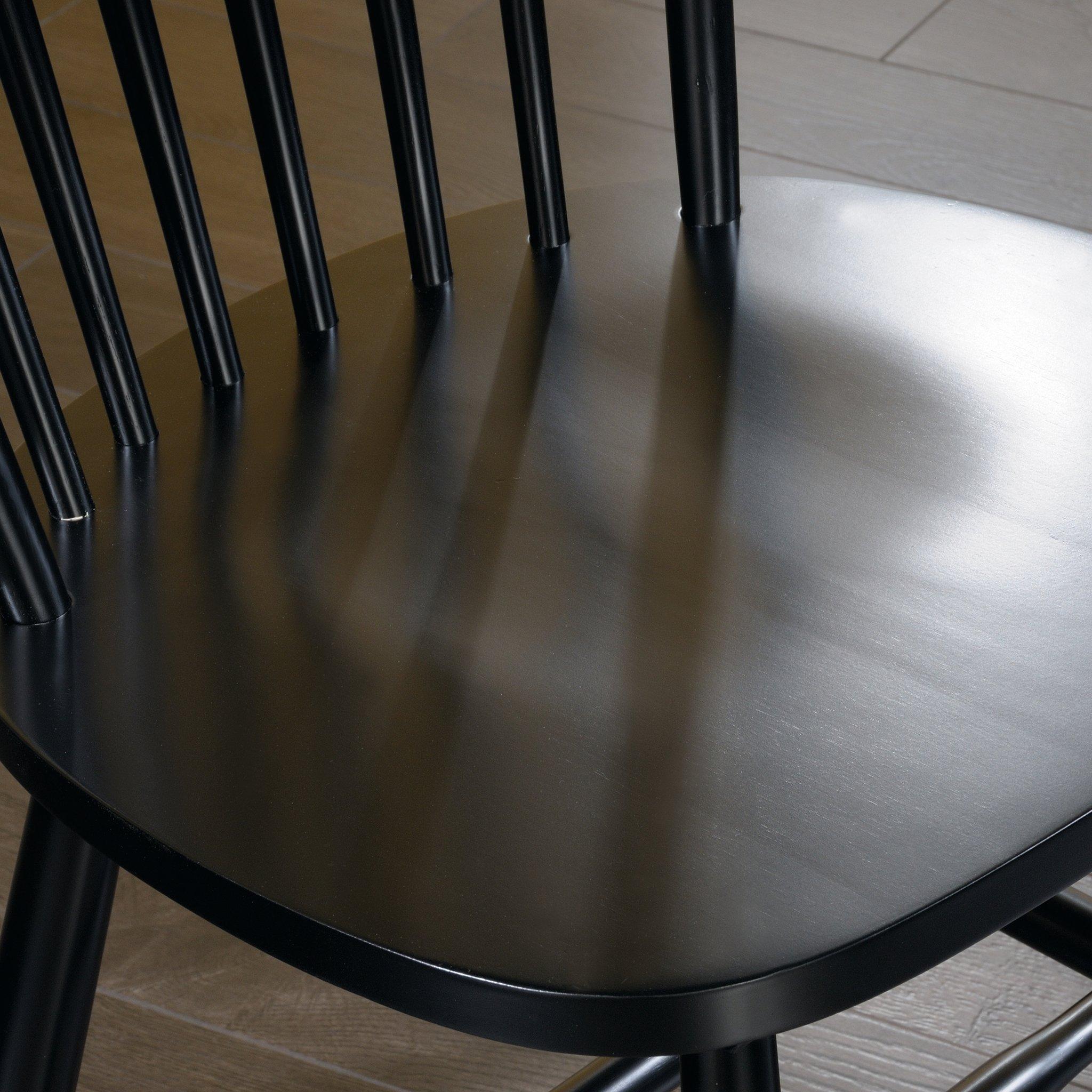 Sauder 418892 New Grange Spindle Back Chairs, L: 20.47'' x W: 21.26'' x H: 36.22'', Black finish by Sauder (Image #5)