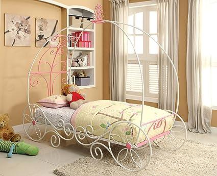 Amazon.com: Furniture of America Ashley Fairy Tale Carriage Bed ...