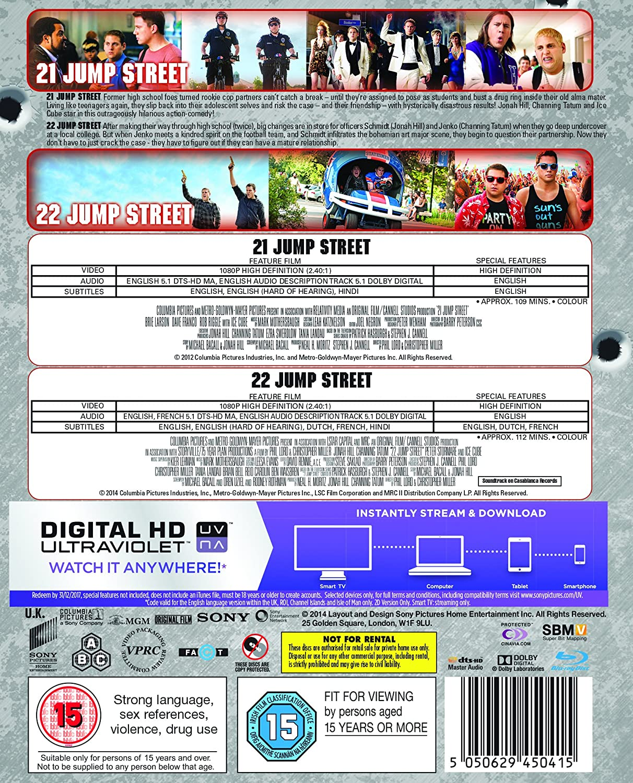 21 jump street 22 jump street double pack blu ray 2014 region free amazon co uk channing tatum jonah hill ellie kemper brie larson ice cube