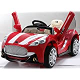 NEW DESIGN MASERATI STYLE 12V RED TWIN MOTORS KIDS RIDE ON CAR WITH 4 WYAS PARENTAL REMOTE CONTROL + openable doors + mp3 input (MASERATI-RED/12V) by Y & Y TOY STORE ON LINE