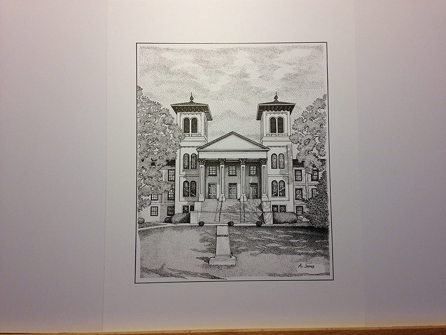 Wofford Old Main 9x12 pen and ink print