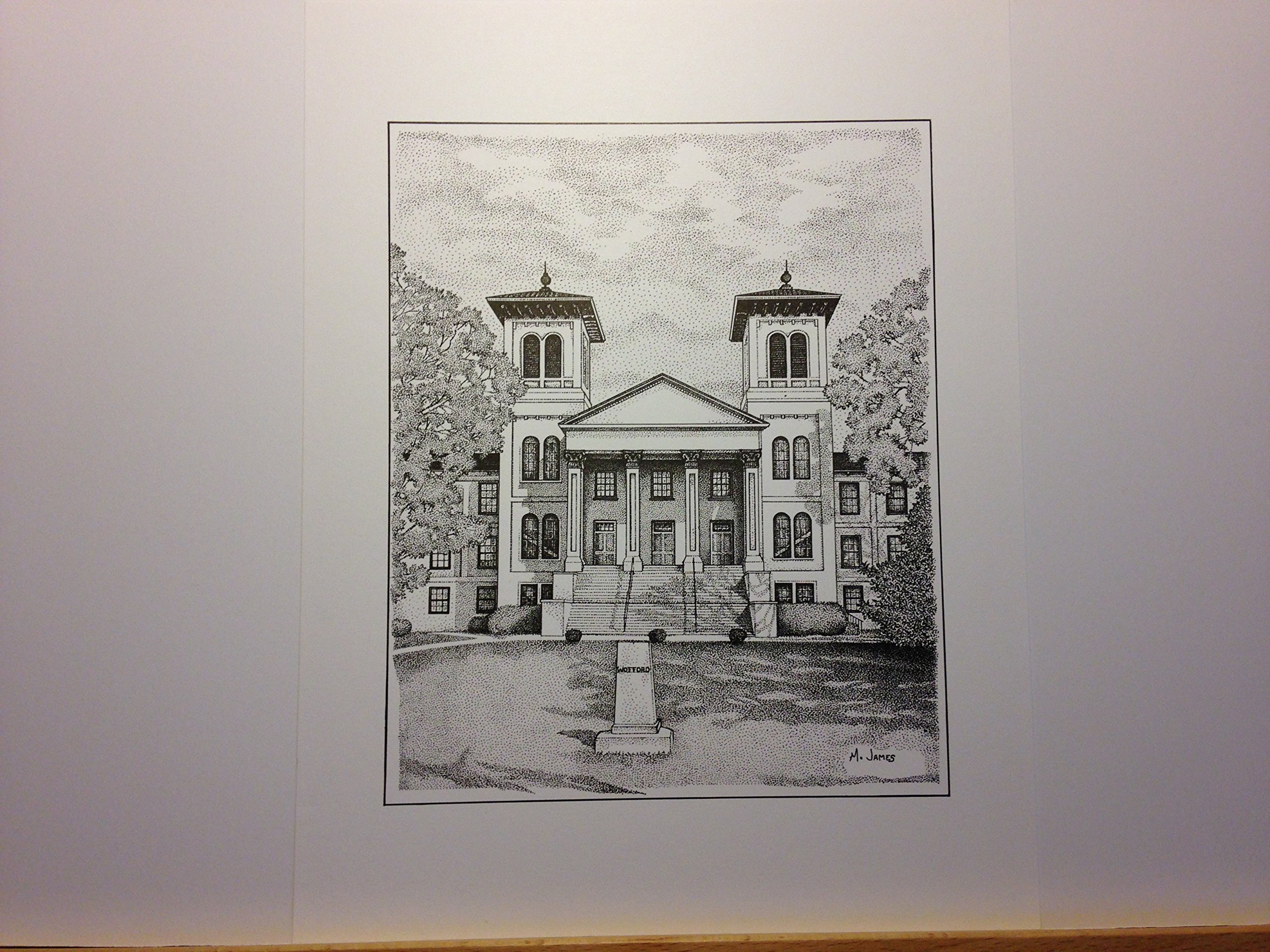 Wofford ''Old Main'' 9''x12'' pen and ink print
