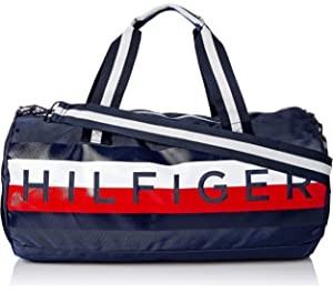 d627ba8622c Amazon.com: Tommy Hilfiger Women's Tommy Nylon Tote Navy/Red One ...