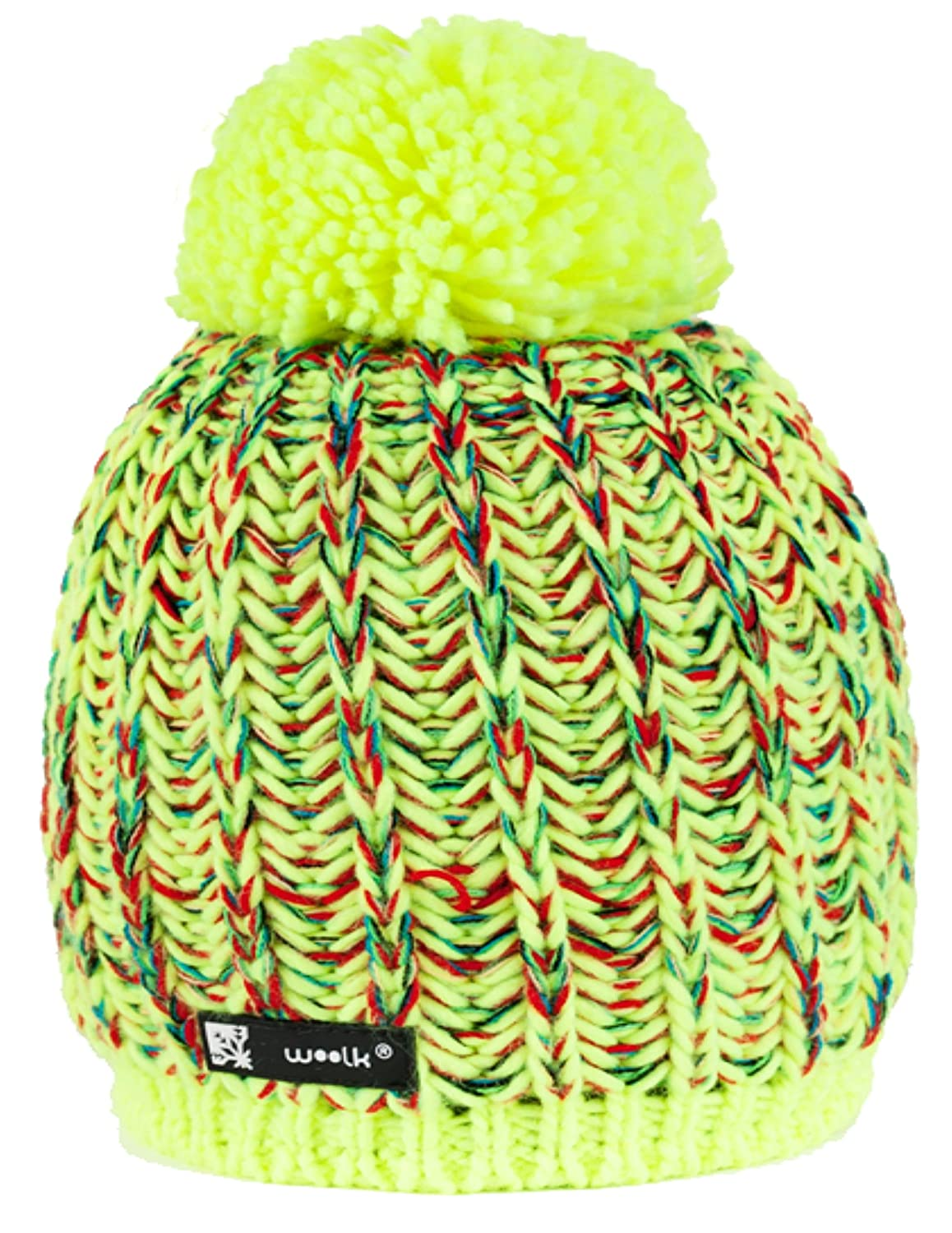 Beanie Hat WOOLLY Knitted Cookies Eskimo Style Wool with Ponpon Men's Women's Winter Warm SKI Snowboard Hats 02