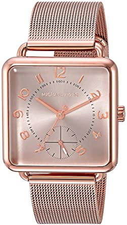 dbefb24f536bc Amazon.com  Michael Kors Women s Quartz Stainless Steel Casual Watch Color Rose  Gold-Toned (Model  MK3664)  Watches