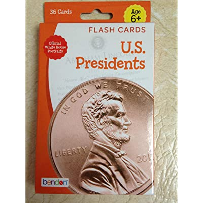 U.S. Presidents Flash Cards Pack of 36: Toys & Games