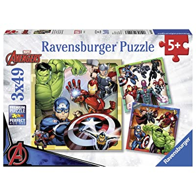 Ravensburger Marvel Avengers Assemble, 3X 49pc Jigsaw Puzzles: Toys & Games