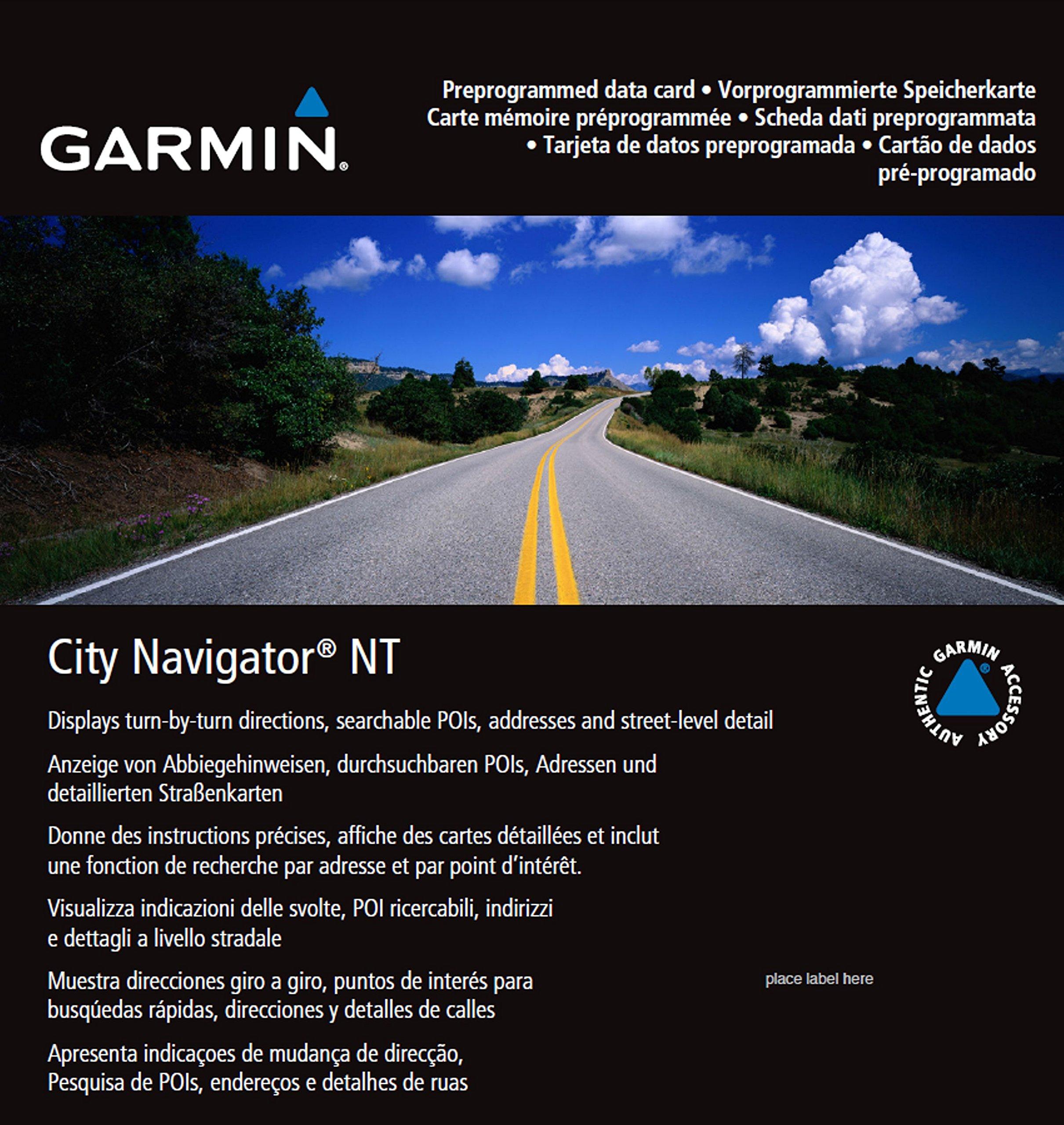 Garmin City Navigator 2016 Germany/Austria/Switzerland/Liechtenstein/Northern Italy/Eastern France Map microSD Card