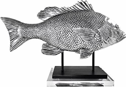 Clint Eagar Snapper Fish Figurine on Acrylic Block, 19-1 2 x 5-1 2 x 12 H