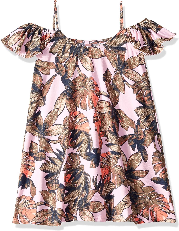 Maaji Girls Printed with Off The Shoulder Ruffle Sleeve Dress