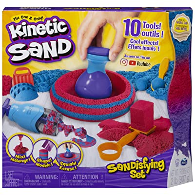 Kinetic Sand, Sandisfying Set with 2lbs of Sand and 10 Tools, for Kids Aged 3 and Up: Toys & Games