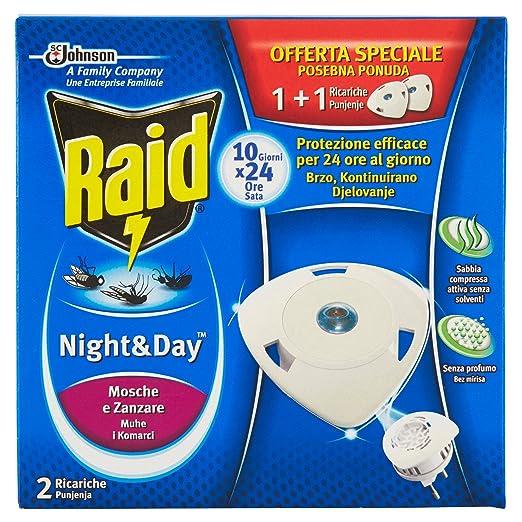 10 opinioni per Raid Night & Day Mosche e Zanzare- 2 Ricariche