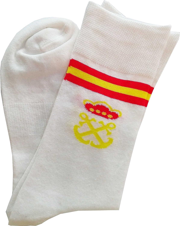 dicep Calcetín Corto Bandera España con Escudo de la Marina (3 Pares)