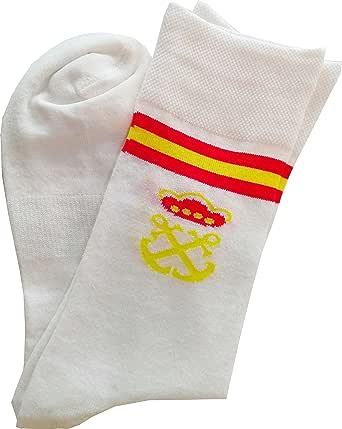 Calcetín Corto Bandera España Costalero (3 Pares) (Blanco): Amazon.es: Ropa y accesorios