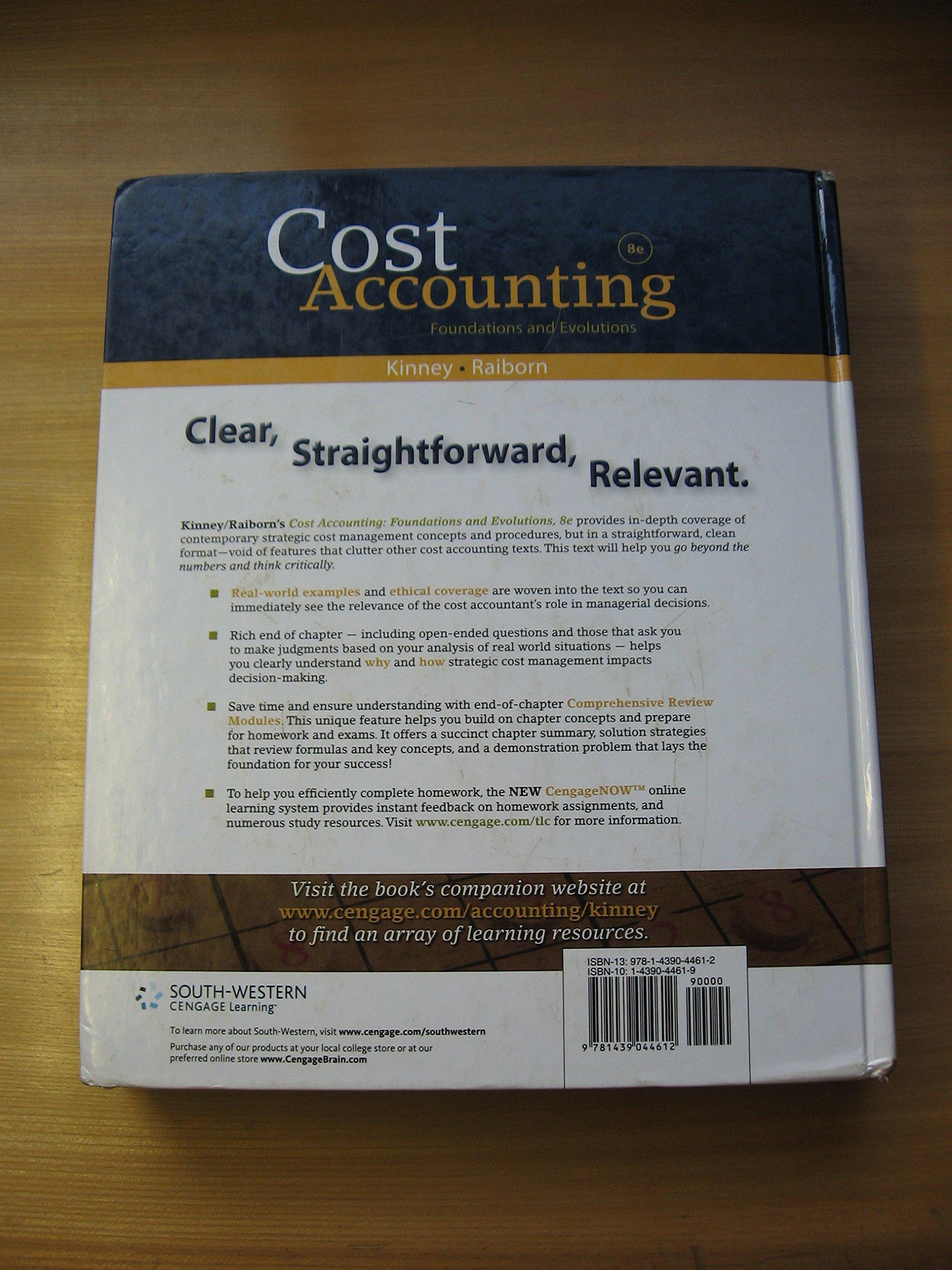 Cost Accounting Kinney Raiborn Pdf