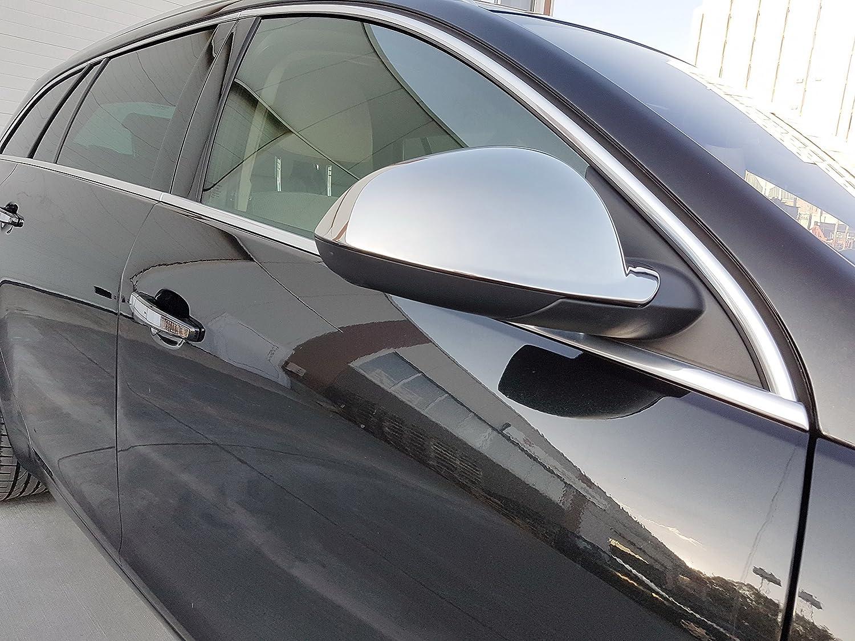 hechas de acero inoxidable pulido 2 unidadesLas cubiertas de espejo son accesorios hechos de acero inoxidable pulido. Cubiertas de espejos retrovisores de coche
