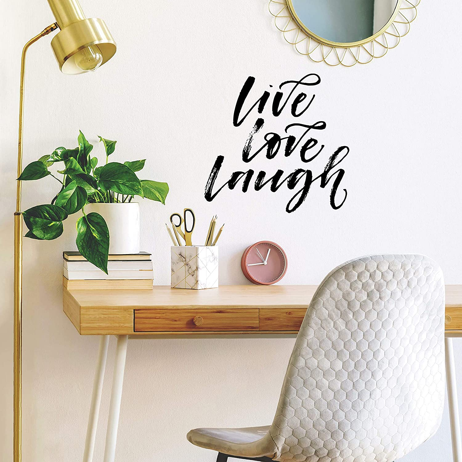 RoomMates Live Laugh Love Script Peel And Stick Wall Decals