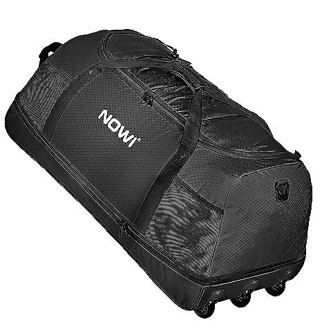 NOWI XXL Riesen Reisetasche mit 3 Rollen Volumen 100-135 Liter Rollenreisetasche 81 cm