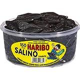 Haribo Salino, Bastoncini di Liquirizia, Dolciumi, 150 Pezzi, Barattolo da 1200g