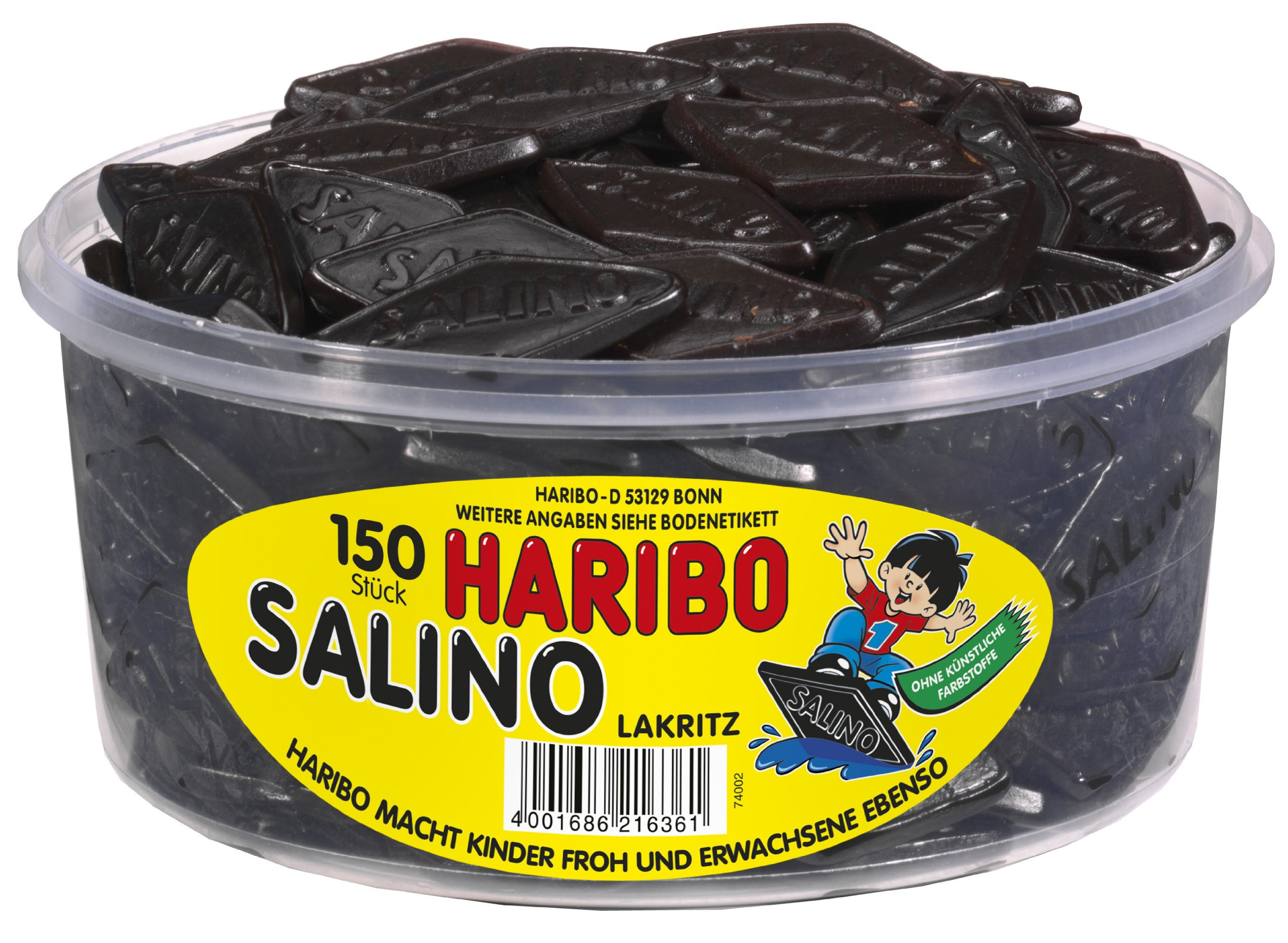 Haribo Salino 1.2 Kg - 150 Pieces - Licorice Lakritz Box - 42 Oz. Or 2.6lbs by Haribo