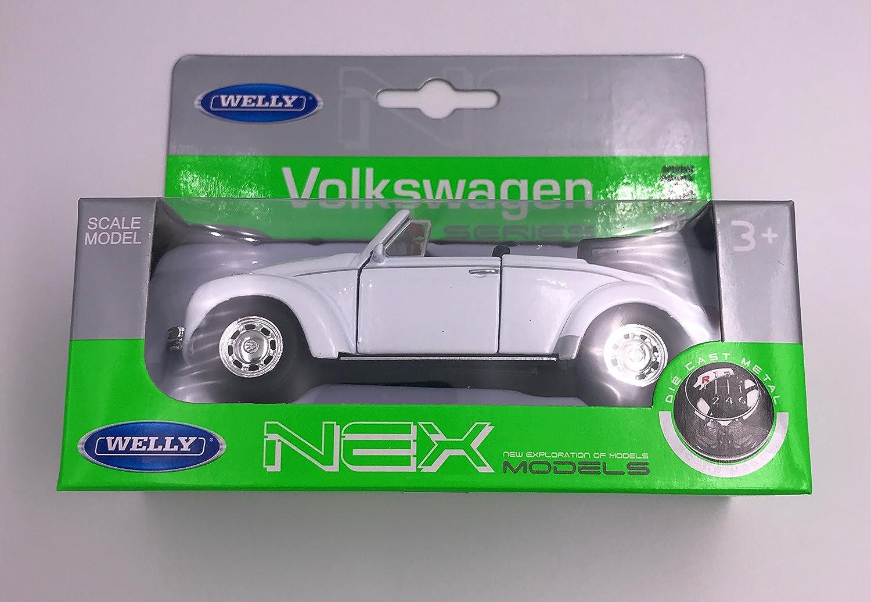 Welly K/äfer Cabrio Modellauto Auto Lizenzprodukt 1:34-1:39 Wei/ß OVP