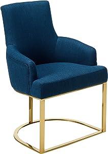Christopher Knight Home Eric MacMillan Modern Glam Fabric Chair, Navy Blue