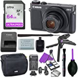 Canon Powershot G9 X Mark II Point & Shoot Digital Camera Bundle w/ Tripod Hand Grip , 64GB SD Memory , Case and More (Black)