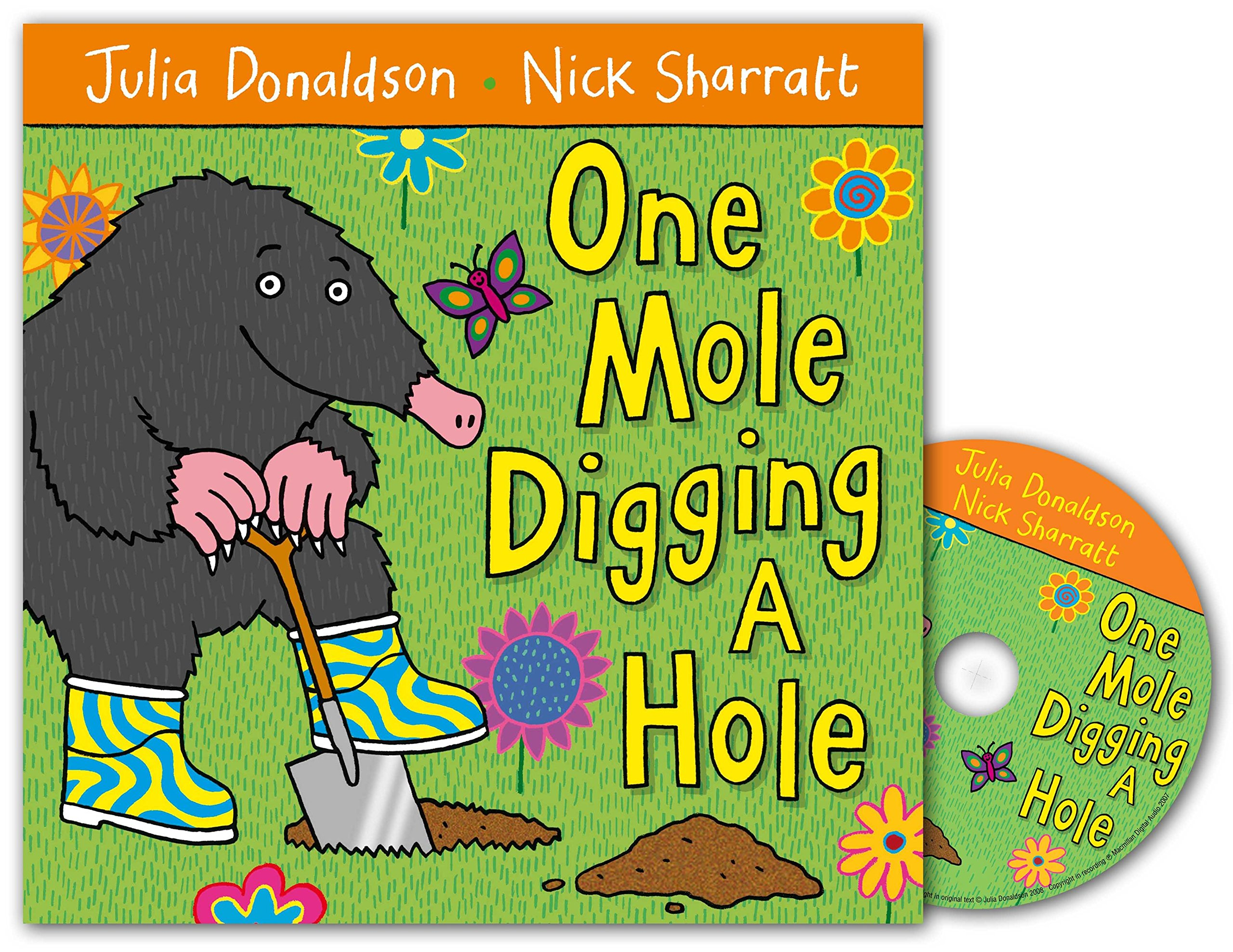 One Mole Digging A Hole Book and CD Pack: Amazon.es: Donaldson ...