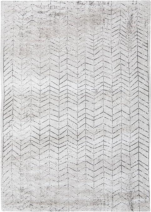 Louis de Poortere Rugs - Alfombra de diseño para Hombre, diseño de Escalera de Jacob, Color Blanco y Negro, Blanco, 230x330cm - (76x108): Amazon.es: Hogar