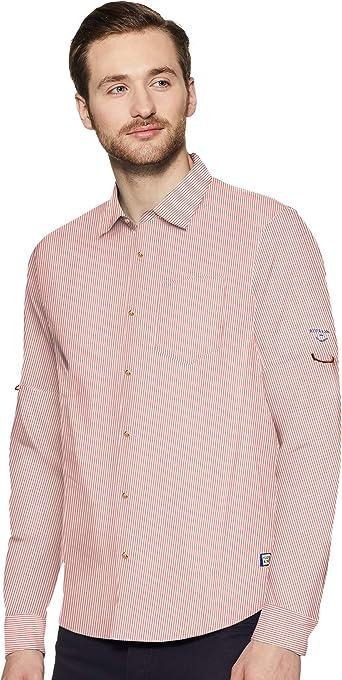 Scotch & Soda Regular Fit-Shirt with Sleeve Roll-up Camisa para Hombre: Amazon.es: Ropa y accesorios