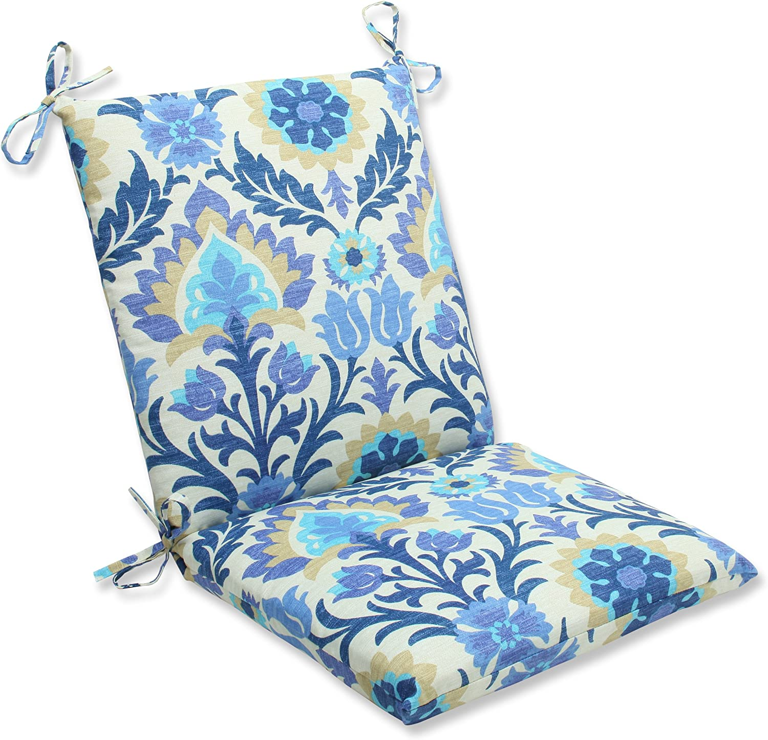 Pillow Perfect Outdoor Santa Maria Squared Corners Chair Cushion, Azure