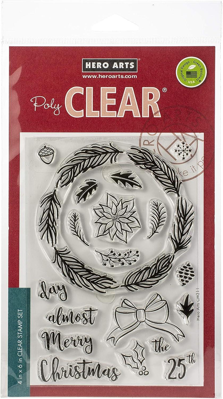 Hero Arts Clear STMP WINTR WREA, us:one size, Winter Wreath