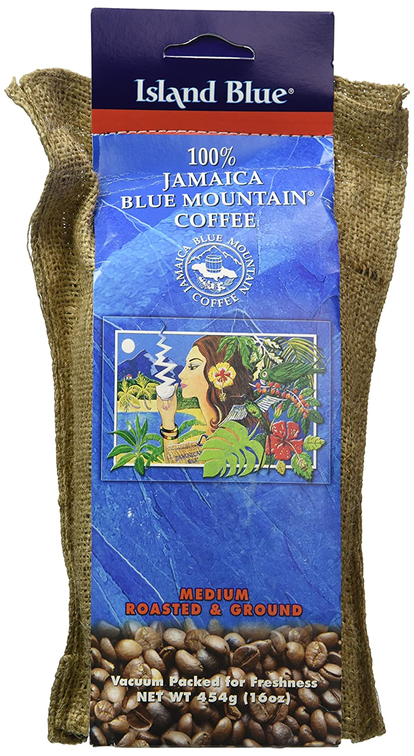 Island Blue (454g/16oz/1lbs) -100% Jamaica Blue Mountain Ground Coffee Jamaica Standard Products SYNCHKG005667